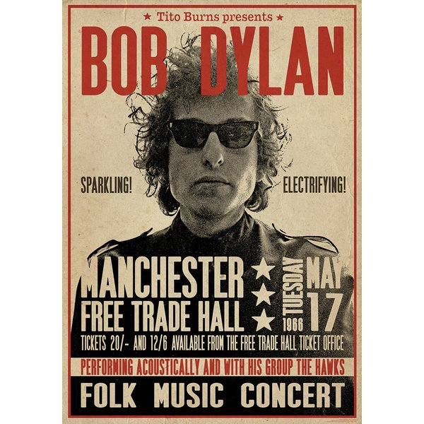 Bob Dylan Poster Manchester