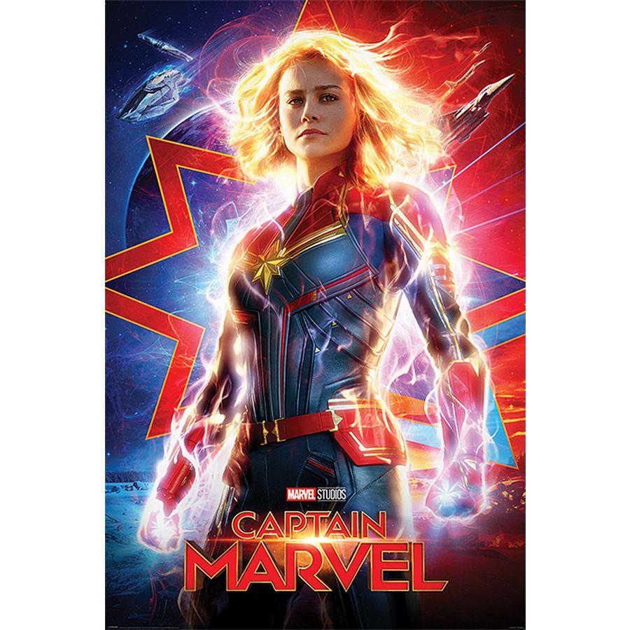 captain marvel poster higher, further, faster - poster großformat