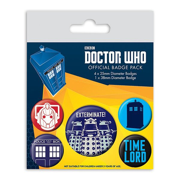 Doctor Who Button Set