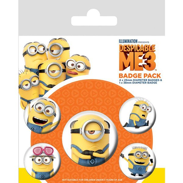Despicable Me 3 Button Set