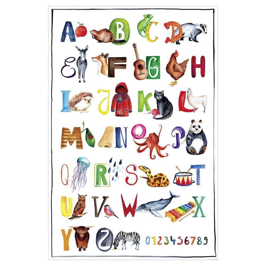 poster fur kinderzimmer, abc poster für kinder - kunstdruck fürs kinderzimmer   close up®, Design ideen