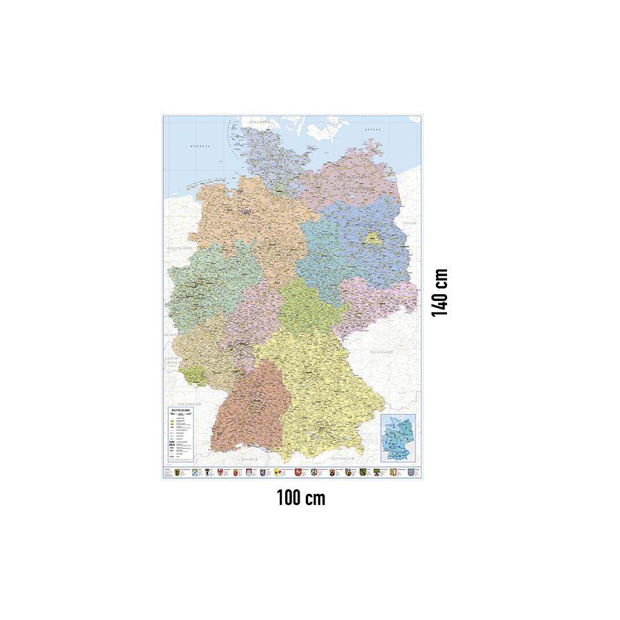 Deutschlandkarte Xxl Poster Politische Landkarte 100 X 140 Xxl