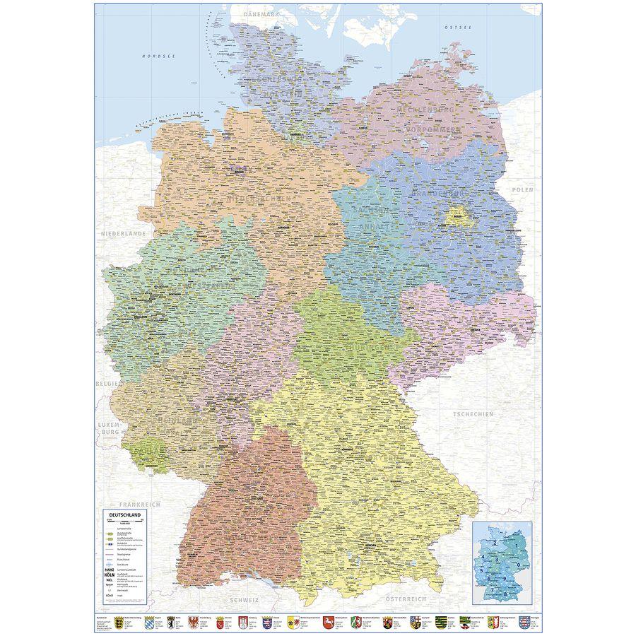 Deutschlandcard 2 Karte Anmelden.Deutschlandkarte Xxl Poster Politische Landkarte 100 X 140 Xxl