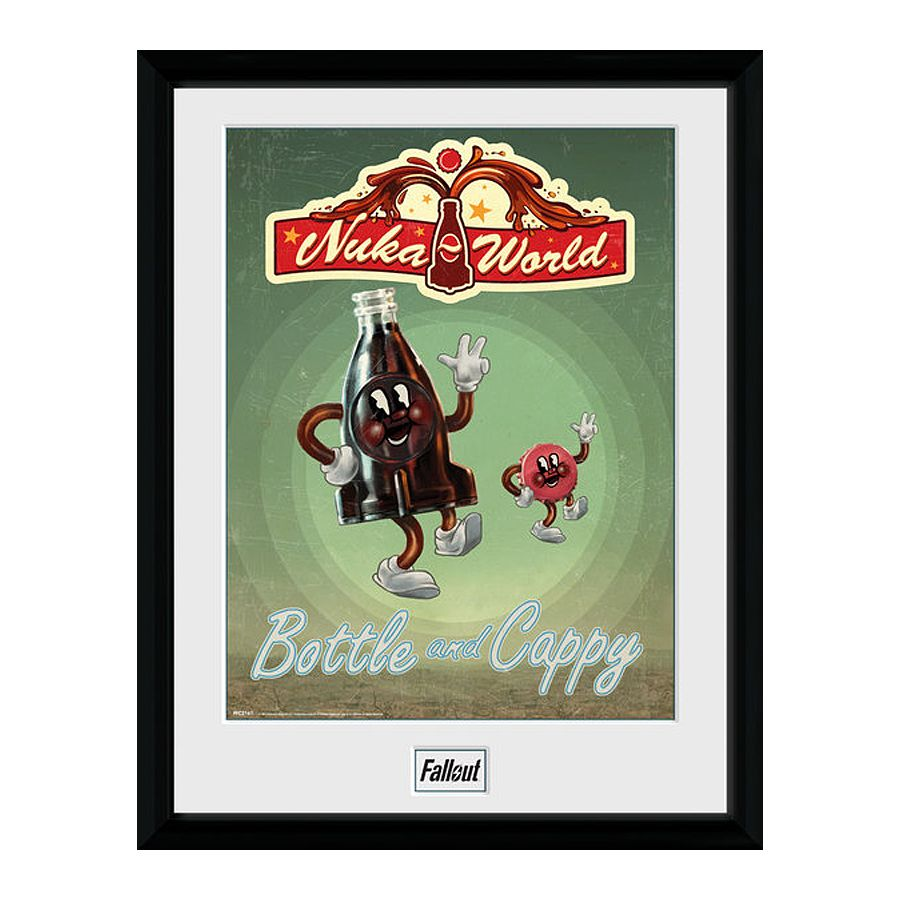 Fallout Collector Print Bottle and Cappy (Nuka Cola) - Gerahmte ...