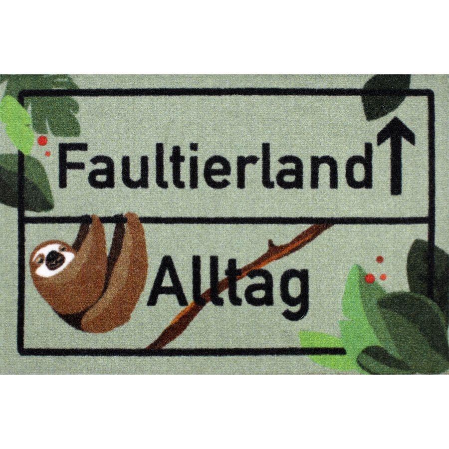 Fußmatte Faultier Trendtier Schmutzfänger faul Willkommen im Faultierland