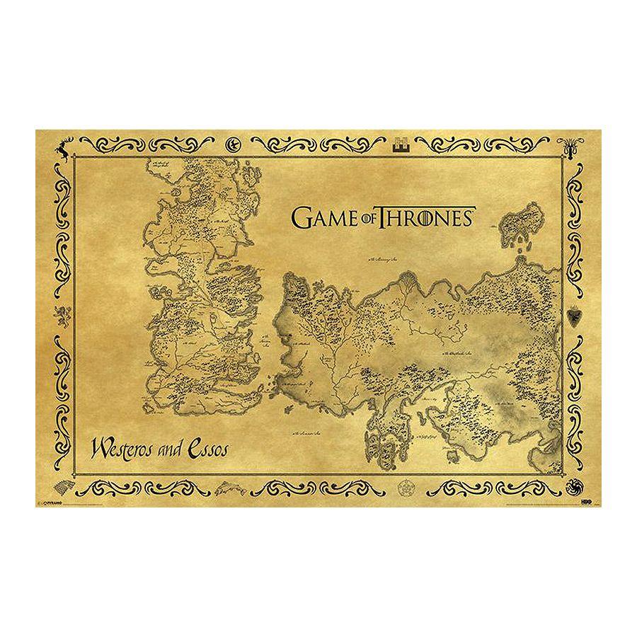 Karte Westeros Essos Deutsch.Game Of Thrones Poster