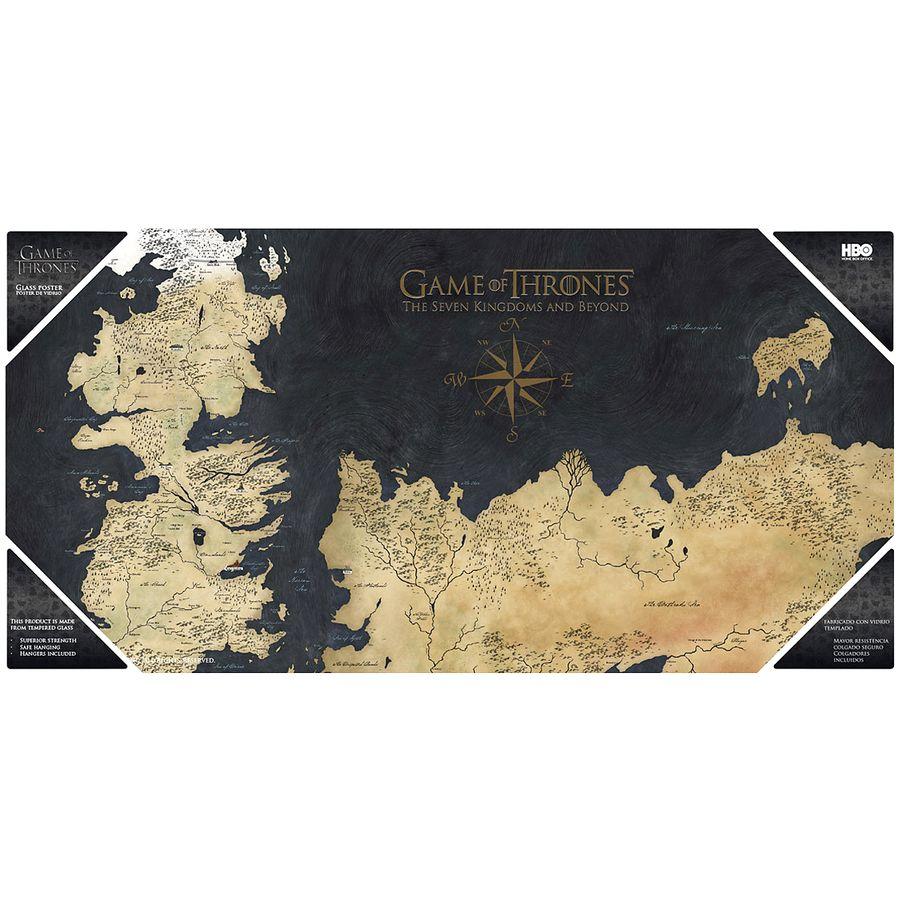 Got Karte Westeros.Game Of Thrones Glas Poster
