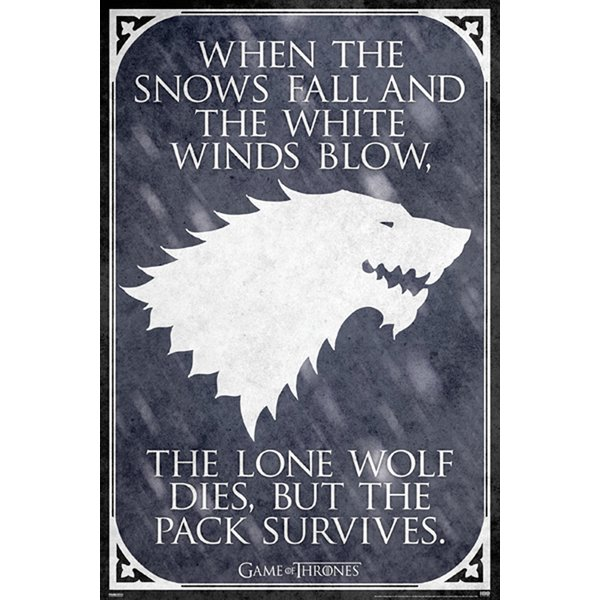 Game of Thrones Poster Lone