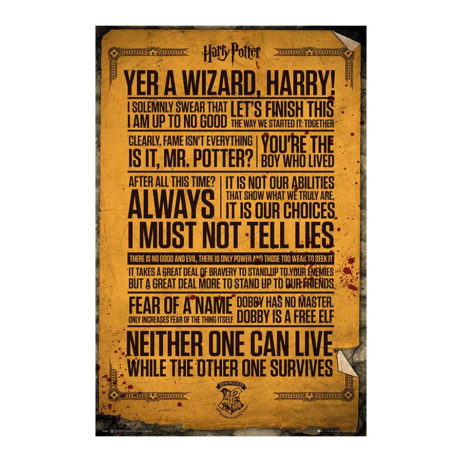 Harry Potter Poster Quotes