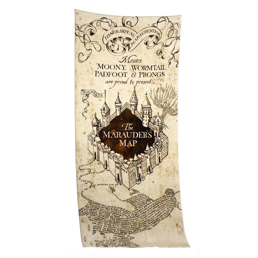 Harry Potter Karte Des Rumtreibers Spruch.Harry Potter Xl Handtuch Karte Des Rumtreibers Close Up