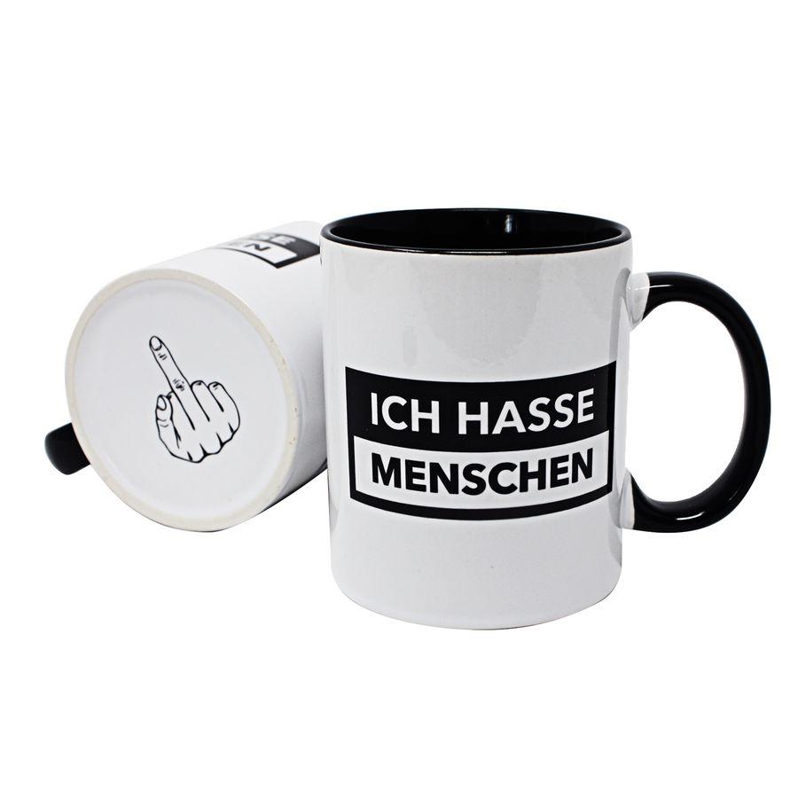 Lustige Tasse Ich hasse Menschen - Fun Kaffeetasse
