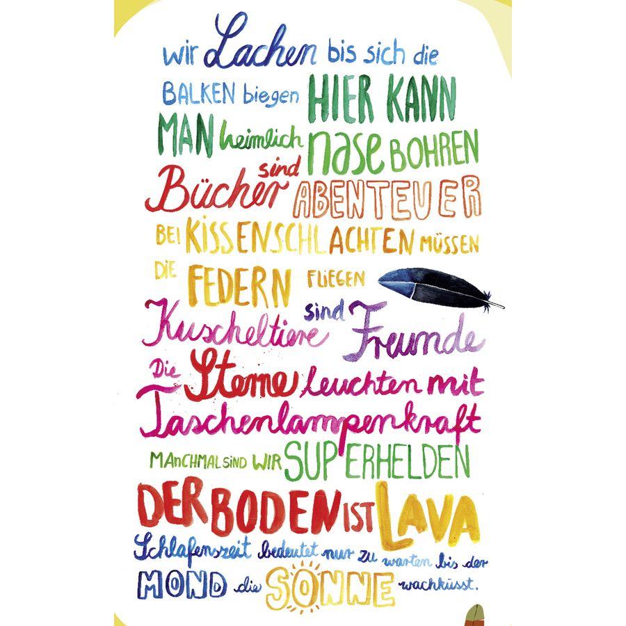 Kinderzimmer-Regeln Poster Janette - Poster Großformat jetzt im Shop ...
