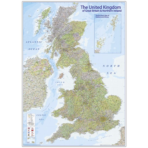 Karte United Kingdom