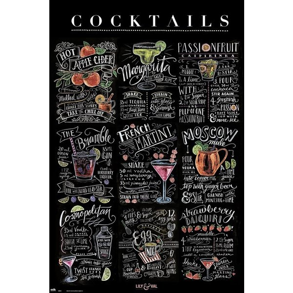 Lily & Val Poster Cocktails
