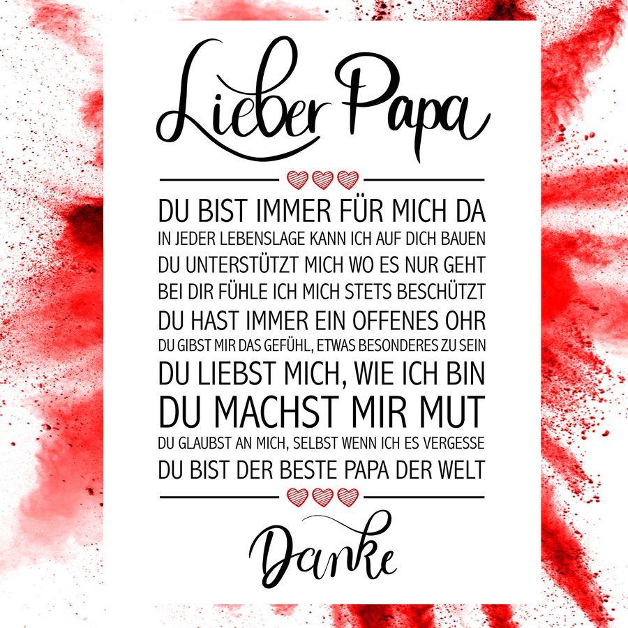 Danke Papa Text : lieber papa kunstdruck kunstdrucke jetzt im shop bestellen close up gmbh ~ Watch28wear.com Haus und Dekorationen
