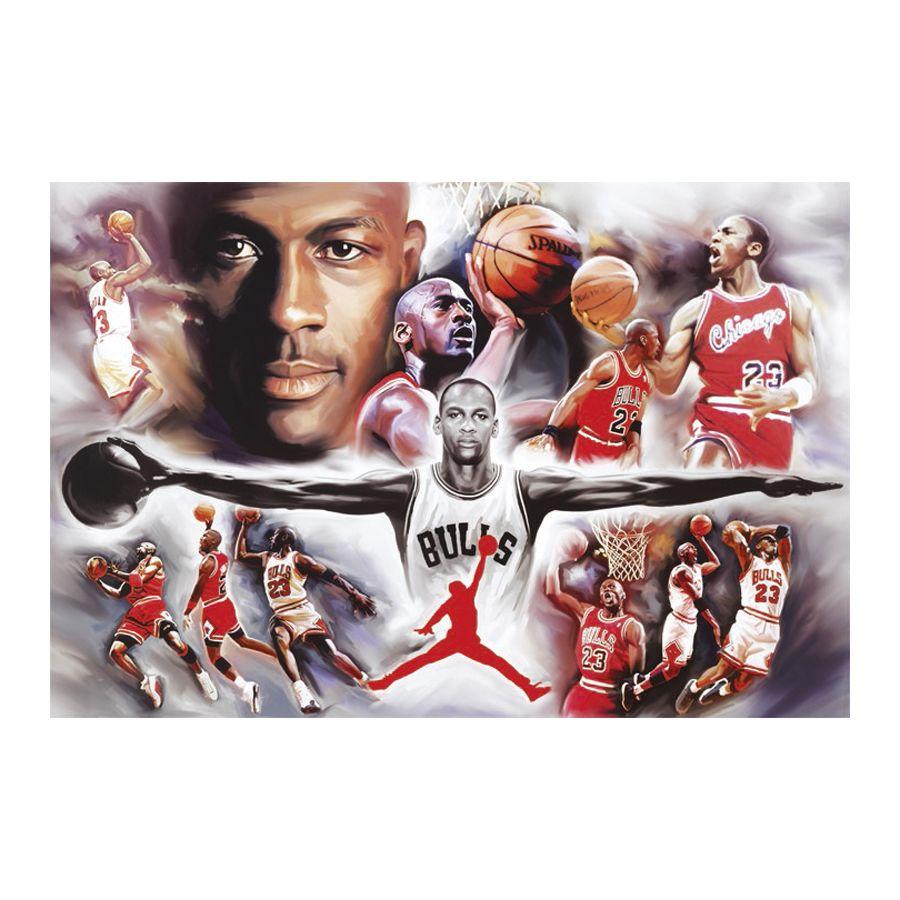 Michael Jordan Poster Collage - Poster Großformat jetzt im Shop ...