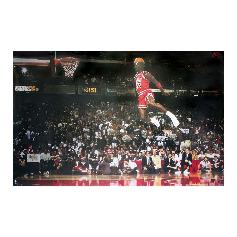 Michael Jordan Poster Slam Dunk Contest - Poster Großformat jetzt im ...