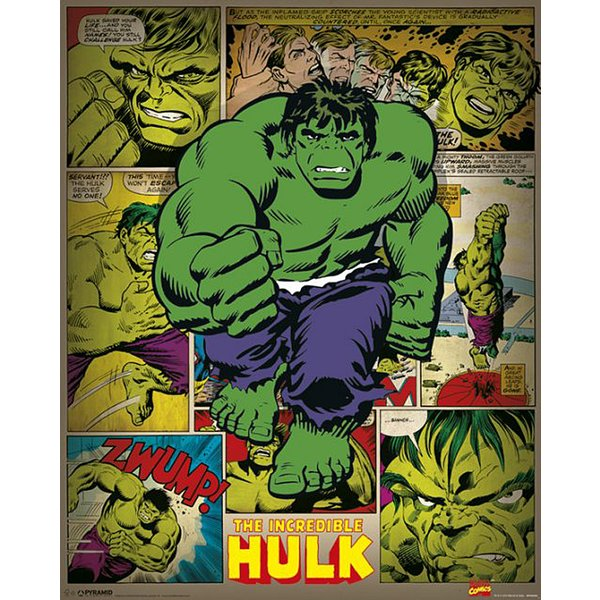 Marvel Poster Incredible Hulk