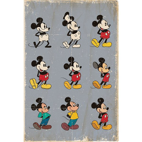Mickey Mouse Poster Evolution
