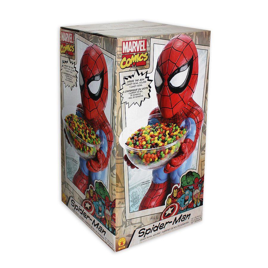 Marvel Spiderman Figur mit Schale bei Close Up im Fan-Store