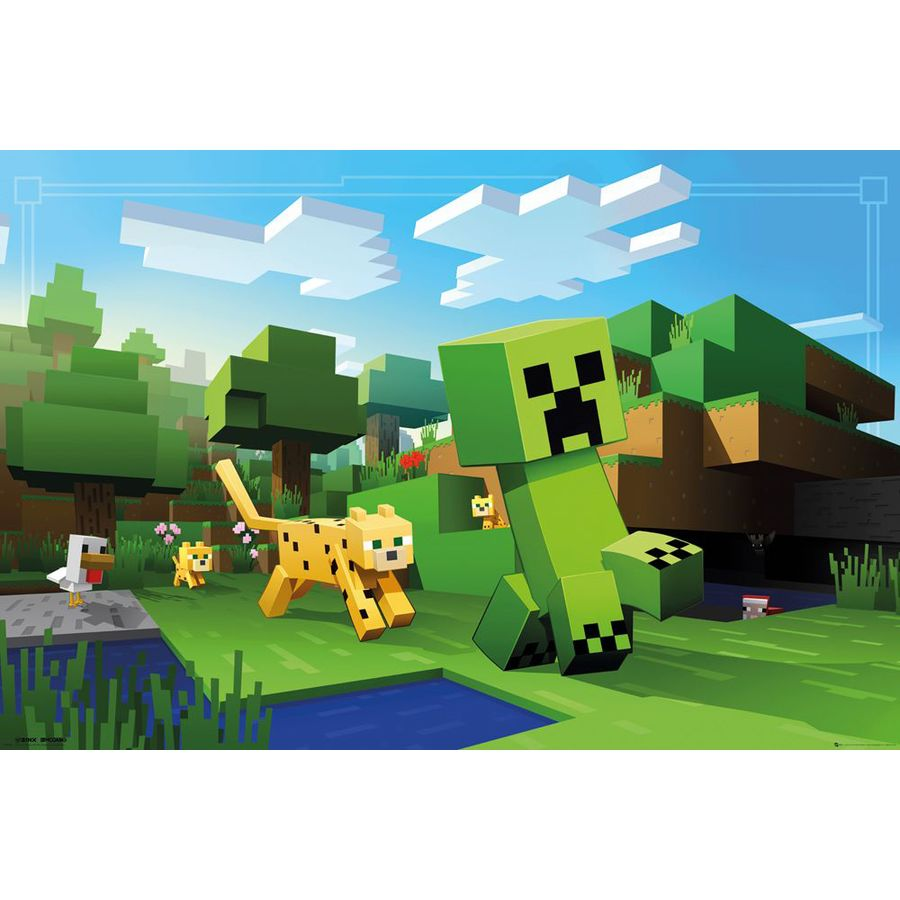 Minecraft Poster Ocelot Chase bei Close Up im Fan-Store!