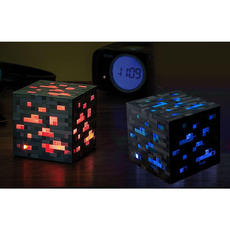 Minecraft Nachtlicht-Würfel Set, 3 Helligkeitsstufen mit LED\'s