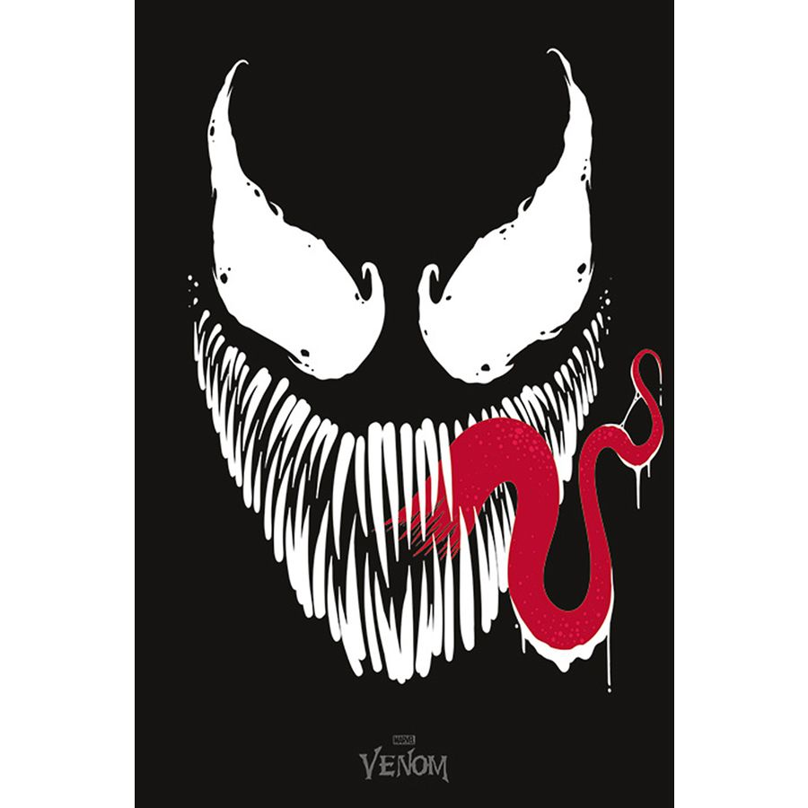 Marvel Comics Poster Venom Face - Poster Großformat jetzt im Shop ...