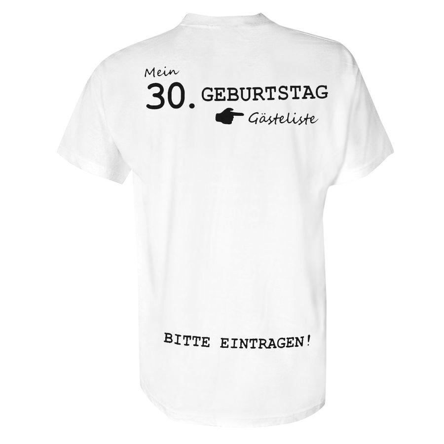 Mein 30 Geburtstag T Shirt T Shirts Jetzt Im Shop Bestellen Close