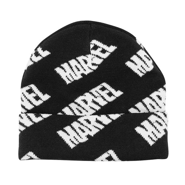 Marvel Beanie Repeating Logo
