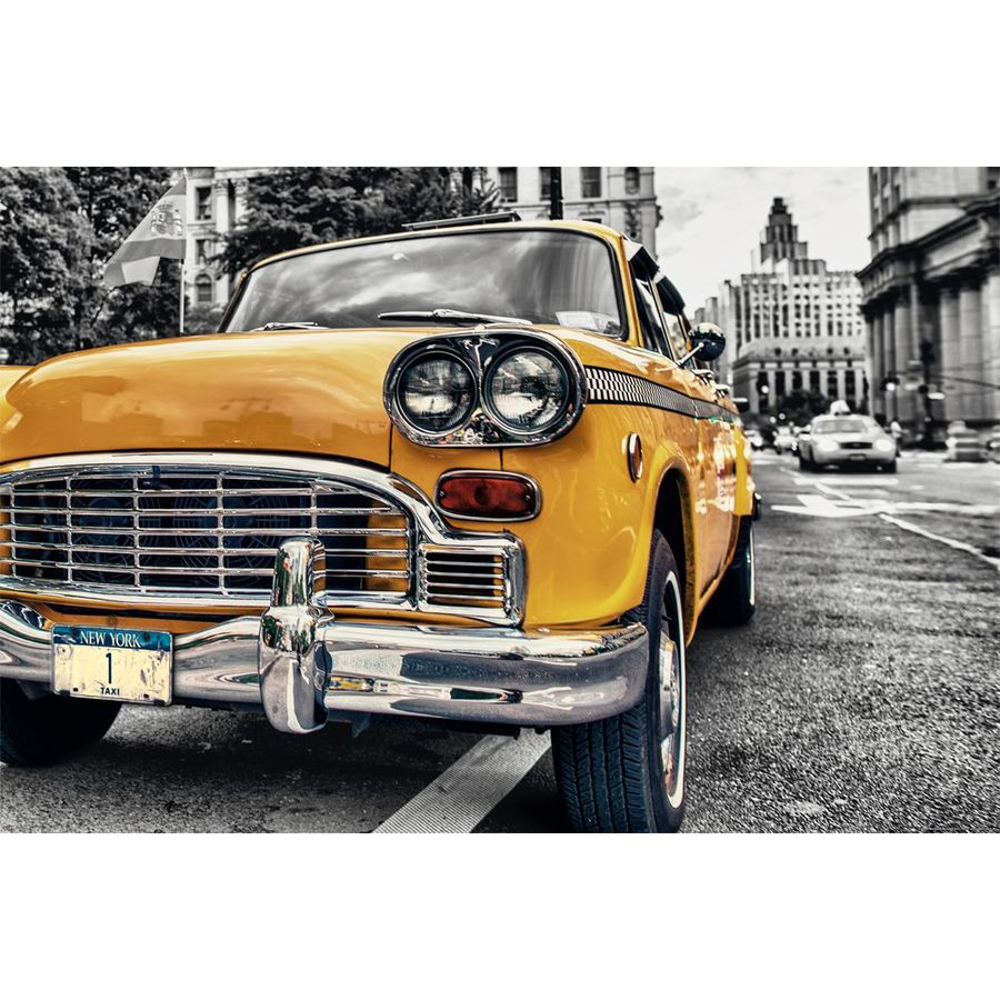 New York Poster Taxi Yellow Cab No. 1