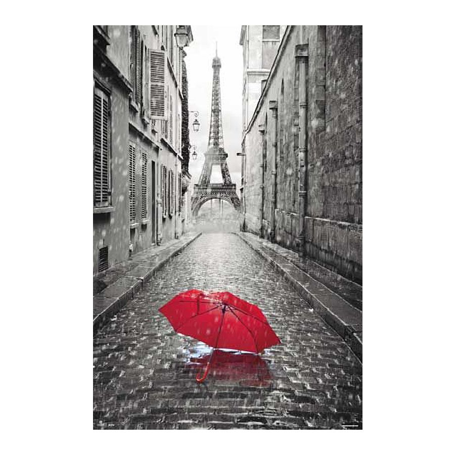 paris poster eiffelturm regenschirm poster gro format. Black Bedroom Furniture Sets. Home Design Ideas