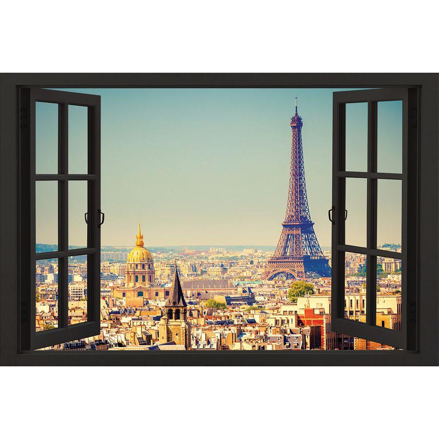 paris poster window poster gro format jetzt im shop. Black Bedroom Furniture Sets. Home Design Ideas