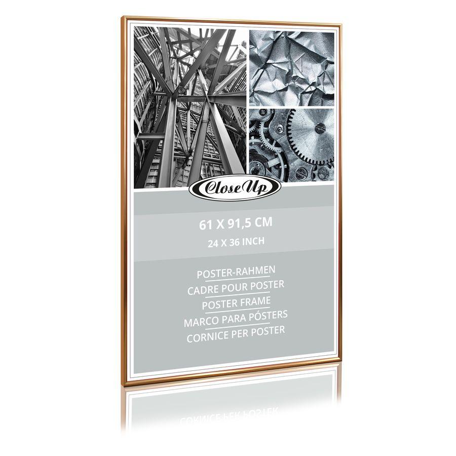 Posterrahmen Wechselrahmen 61 x 91,5 cm silber Poster Bilderrahmen Plakat Rahmen