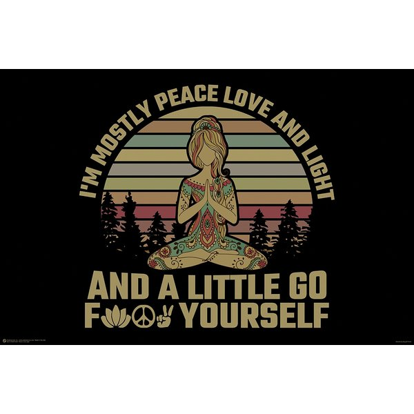 Peace Love And Light Poster