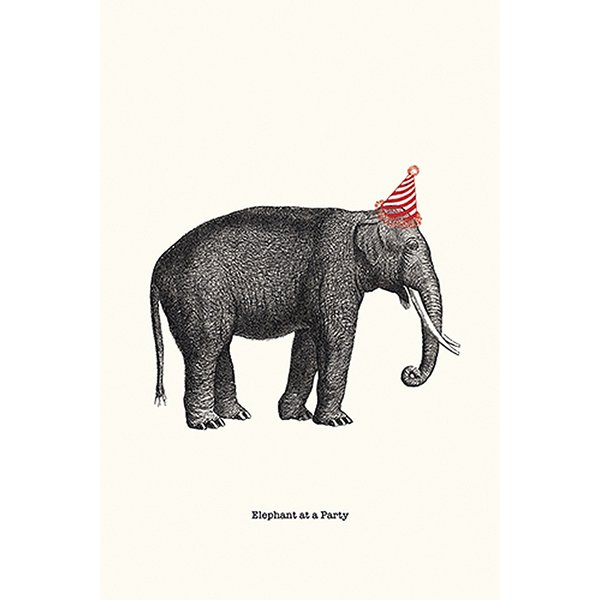 Party Elephant Minprint