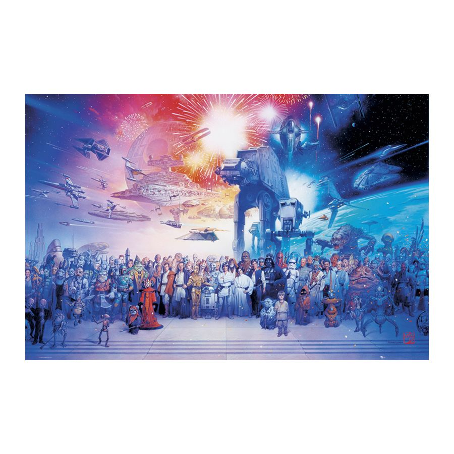 star wars poster cast poster gro format jetzt im shop bestellen close up gmbh. Black Bedroom Furniture Sets. Home Design Ideas