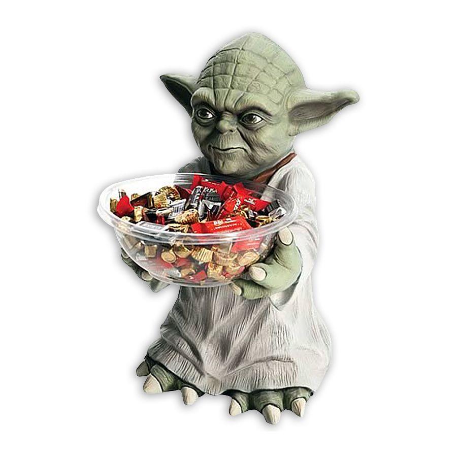 STAR WARS Candy Bowl Holder Yoda mit Schüssel, aus Kunststoff