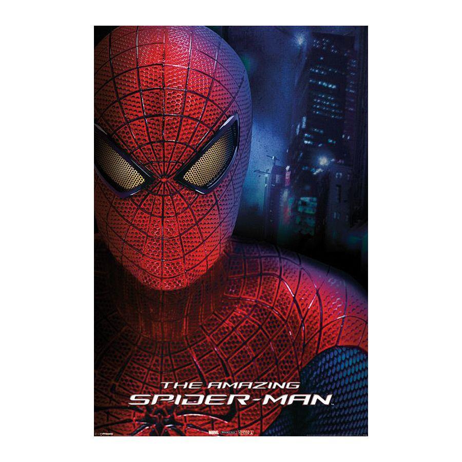 Spider Man Poster Face The Amazing Spider Man Poster Großformat Jetzt Im Shop Bestellen Close Up Gmbh