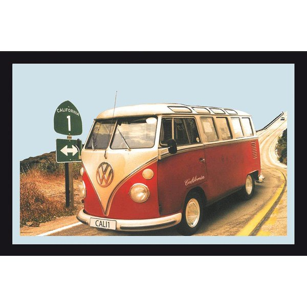 spiegel vw camper highway 1 california spiegel jetzt im shop bestellen close up gmbh. Black Bedroom Furniture Sets. Home Design Ideas