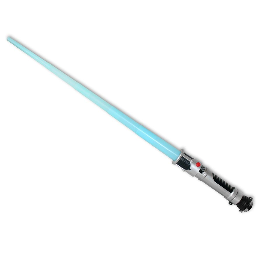 JEDI Plo Koon LASERSCHWERT blau LICHTSCHWERT Star Wars LEUCHTSCHWERT mit LICHT! Film- & TV-Spielzeug