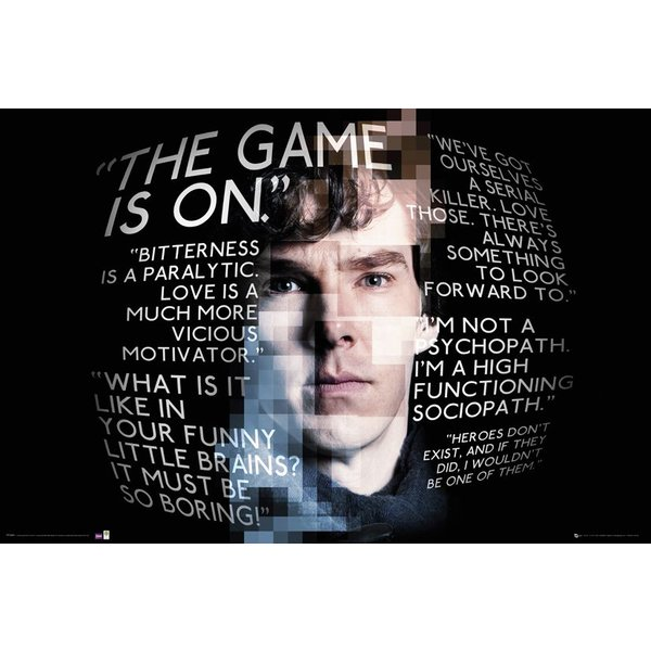 Sherlock Poster The Game is on