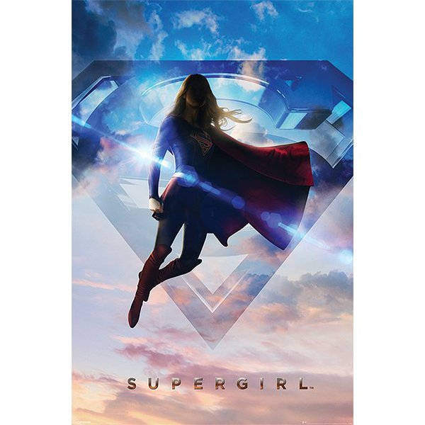 Supergirl Poster Clouds