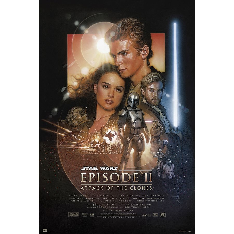 Star Wars Poster Episode 2 Attack of the Clones - Poster Großformat ...