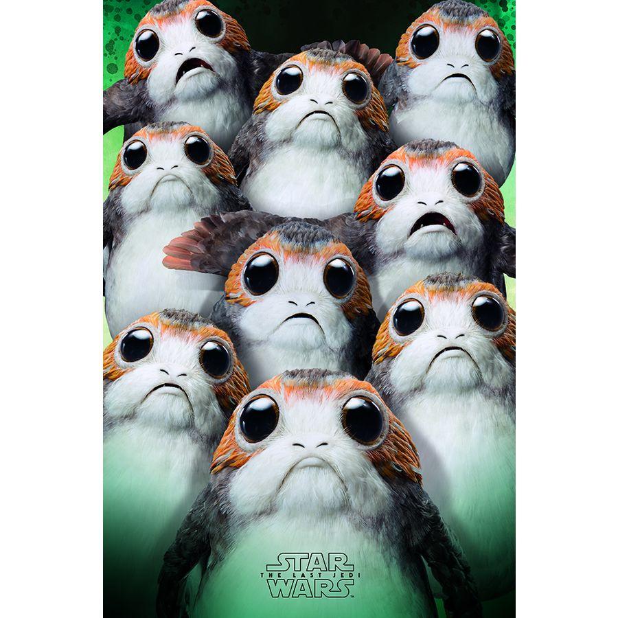 Star Wars Episode 8 Poster Many Porgs - Poster Großformat jetzt im ...
