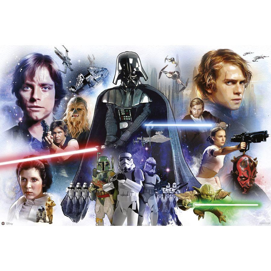 Star Wars Poster Epsiode 1 bis 6 Charaktere - Poster Großformat ...