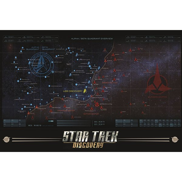 Star Trek Discovery Poster Map