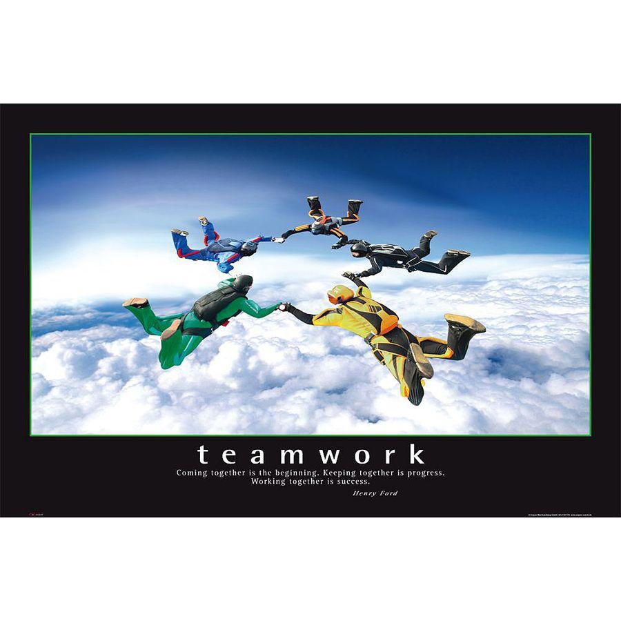Teamwork Poster Barney Stinson How I Met Your Mother - Poster ...