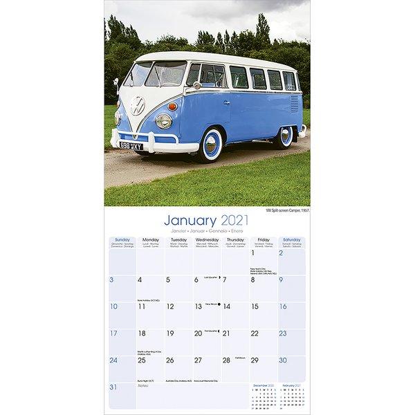 vw bus kalender camper 2021 bulli volkswagen - kalender