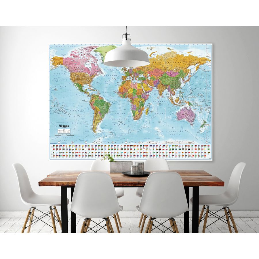 weltkarte xxl poster flaggen 2018 maps in minutes xxl poster jetzt im shop bestellen close. Black Bedroom Furniture Sets. Home Design Ideas