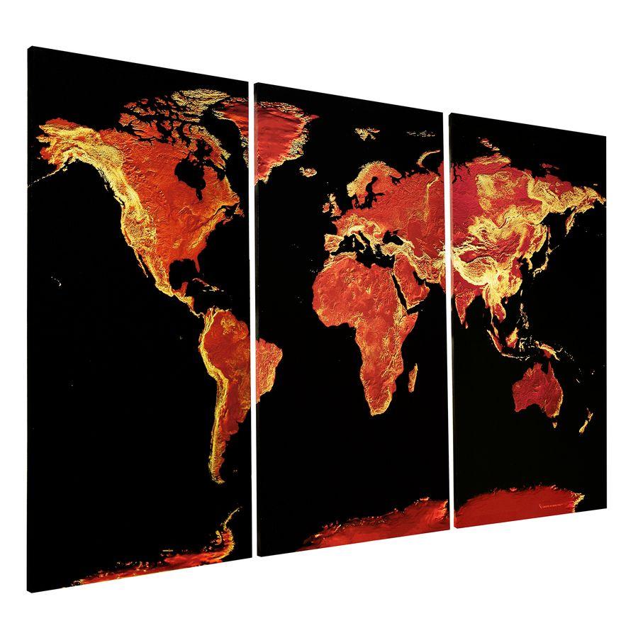 weltkarte auf leinwand maps in minutes fire opal. Black Bedroom Furniture Sets. Home Design Ideas